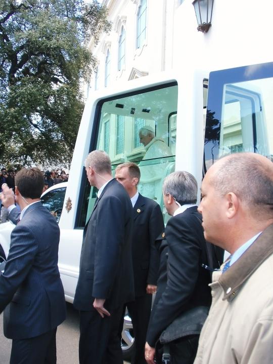 Pope Benedict XVI visiting Fatima Shrine