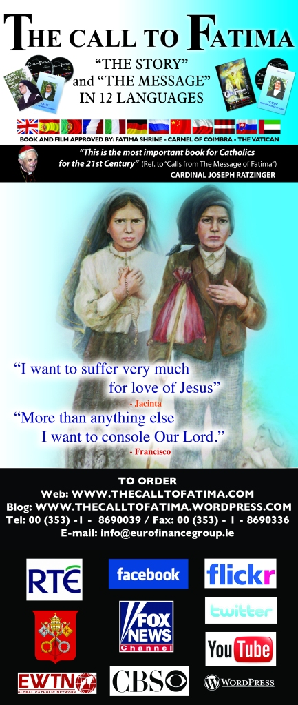 the banner for the blessed Jacinta and blessed Francisco Marto