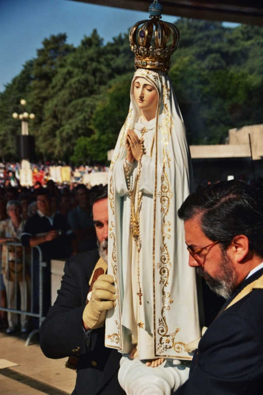 Our Lady's statue in Fatima, Portugal